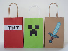instant download mine themed favor bags diy minecraft party