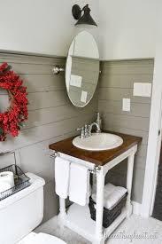 Bathroom Cabinet With Towel Rack Diy Butcher Block Vanity Beneath My Heart