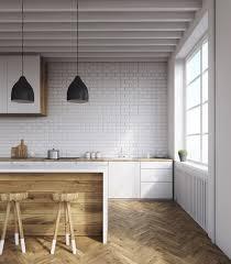 cuisine avec brique cuisine en brique ou blanche 36 idées ultra tendance