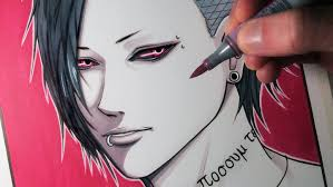 copic markers black friday let u0027s draw uta from tokyo ghoul fan art friday youtube