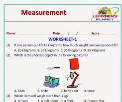 grade measurement worksheets and printables for grade 1 students