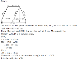 area of trapezium and polygon rs aggarwal class 8 maths solutions