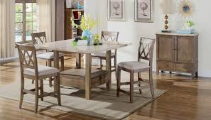 fortaleza counter height table home zone furniture dining room