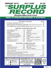 february 2016 surplus record machinery u0026 equipment directory