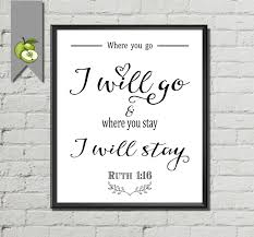 wedding bible verses for invitations bible verse wedding sign where you go i will go ruth 1 16