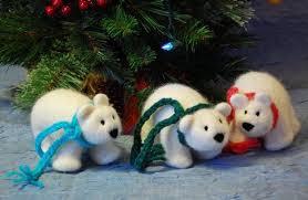 Polar Bear Christmas Ornaments by Polly The Polar Bear And Her Cub Knitting Patterns And Crochet