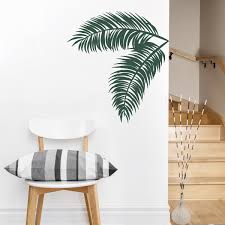 palm leaves wall decal tropical wall art palm tree decal zoom