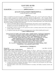 Sample Resume Objectives Construction Management by Asq Certified Quality Engineer Sample Resume 22 Quality Resumes