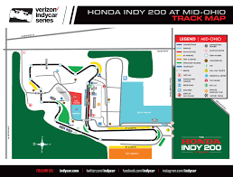 Map Indy Preview 2016 Honda Indy 200 At Mid Ohio