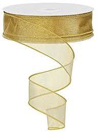 sheer organza ribbon sheer organza ribbon wired color gold 11 2 x 50