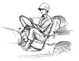 cartoon jeep front jeep wwii gis