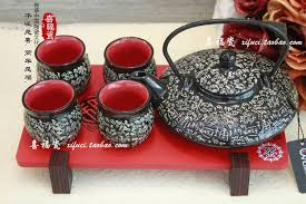 wedding gift japan japanese style ceramic kung fu tea suit teacup teapot korean