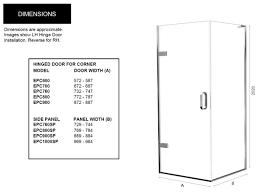 Shower Door Width Matki Eauzone Plus Hinged Shower Door For Corner Uk Bathrooms