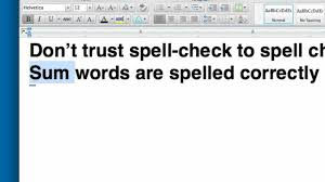 How Do You Spell Job Resume by Spill Check Your Resume Or Why Spell Check Isn U0027t Enough Youtube
