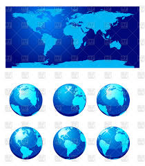 Free Vector World Map by Set Of World Globe And World Map Vector Image 74197 U2013 Rfclipart