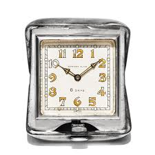 Colorado travel clock images Vintage tiffany co 1930s miniature sterling silver travel desk jpg