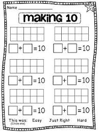 first grade math unit 3 addition to 10 making 10 worksheets and