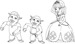 image disney sofia curse princess ivy coloring