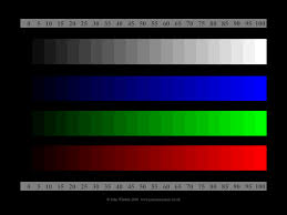 test cards for monitor adjustment panoramashots