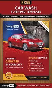 free car wash flyer psd template 3232 designyep free flyers
