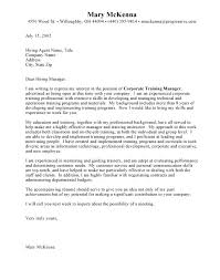 professional cover letter financial analyst cover letter example
