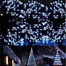 solar panel christmas lights 20m 200led solar powered string fairy lights christmas wedding party