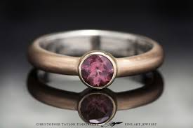 rose gold amethyst diamond ring mokumé gane 14k rose gold and 10k yellow gold ring with pink