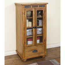 Audio Cabinets With Glass Doors Furniture Cherry Wood Audio Cabinet With Shelf And Glass Door