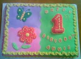 first birthday cakes with floral cake decor for girls png