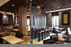 fascinating design ideas of restaurant interior with black and