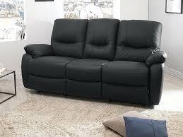 canap cuir noir 3 places canape canapé cuir 3 places relax electrique luxury s canapé relax