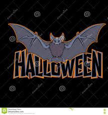 a halloween bat with a dark background halloween bat inscription black background vector illustration