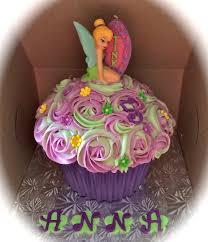 Birthday Cakes Tinkerbell Giant Cupcake Kids Cake Ideas