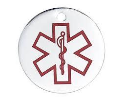 Chandelier Sign Medical Medical Alert Tag Etsy