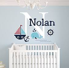 amazon com personalized nautical theme wall decal nautical