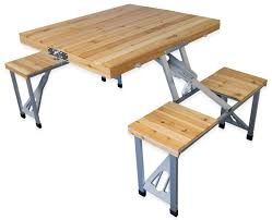 Wooden Folding Picnic Table Andes Wooden Folding Portable Cing Picnic Outdoor Table Stool