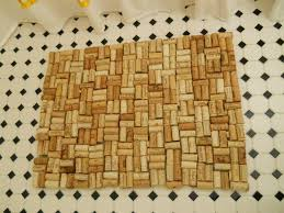 Cork Mats For Bathrooms Diy Wine Cork Bathmat Living Well On The Cheap