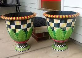 148 best painted plastic flower pots images on pinterest painted