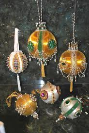 150 best beaded ornaments images on pinterest beaded ornaments