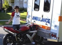 Ambulance Meme - bike crashes into ambulance hilarious jokes funny pictures