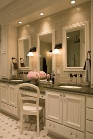 Traditional Vanity Lights Tile Behind Vanity Bathroom Traditional With Double Sinks
