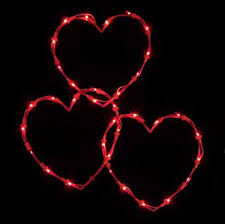 valentines lights northlight lighted valentines day twinkling heart