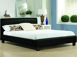 hamburg black faux leather low surround bed frame 6ft super kingsize