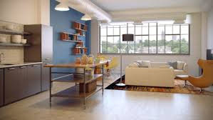 catchy small furnished studio apartment living room design with