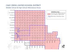 Map Of Chandler Az Cave Creek Az Unified District Boundary Maps