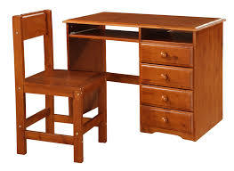 student desk and chair solid dark oak finish student s desk with chair dream rooms furniture
