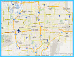 zip code map wichita ks map of wichita kansas travelsmaps com