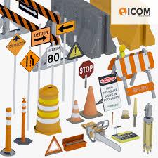 model of road construction tool equipment