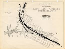 Los Angeles Aqueduct Map by East Los Angeles Interchange Complex Southern California