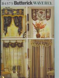 Free Curtain Sewing Patterns Butterick B 4373 Curtains Drapes Valance Sewing Pattern For Sale